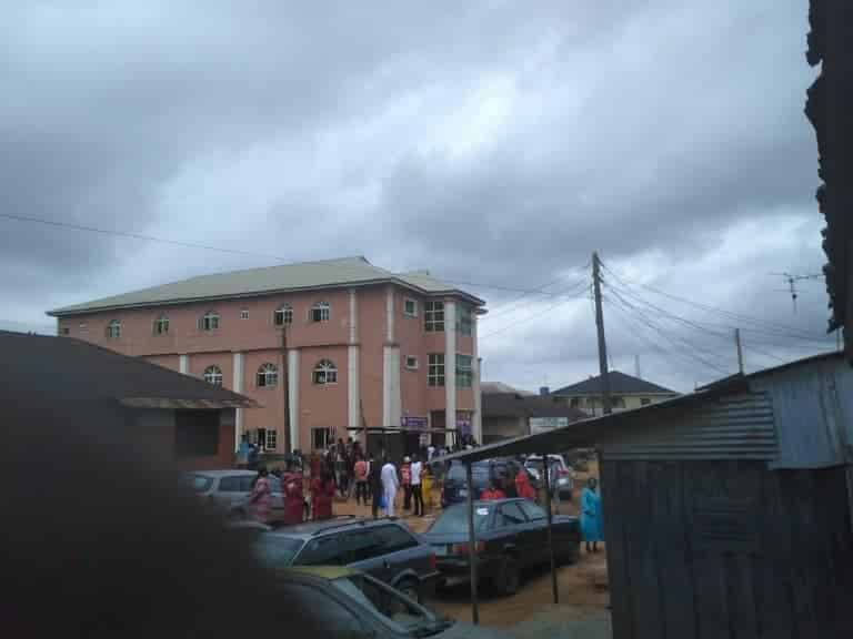 Bride collapses as jilted lady scatters her wedding (photos)