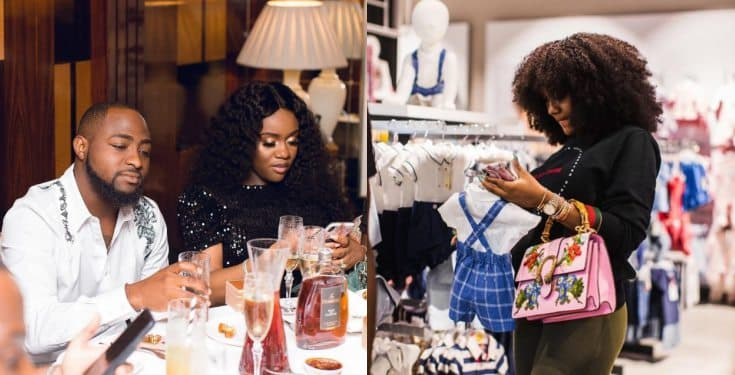 Davido's fiancee, Chioma goes baby shopping