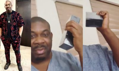 Don Jazzy flaunt his new iPhone 11 Pro Max worth ₦600,000 (video)