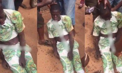 Drama as man loses consciousness after being slapped with a 'charm' (Video)