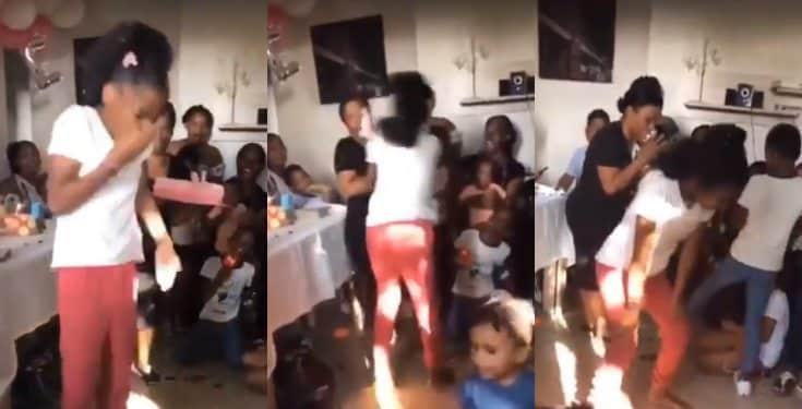 Girl smashes her birthday cake into her mother's face in revenge (video)