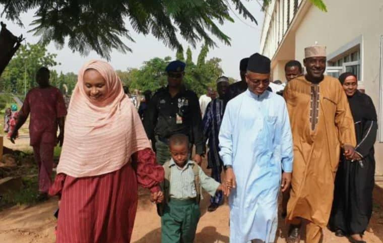 Governor El Rufai enrolls his son in a public school in Kaduna (Photos)