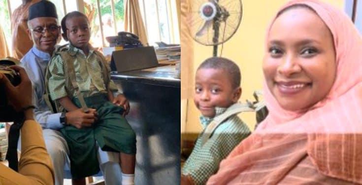 Governor El-Rufai enrolls his son in a public school in Kaduna (Photos)