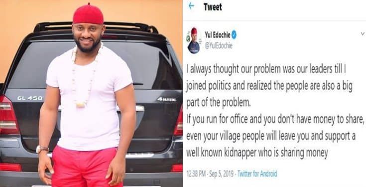I always thought our problem was our leaders till I joined politics – Yul Edochie