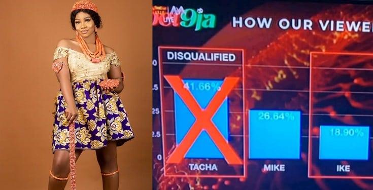 #BBNaija: Celebrities react as Tacha tops voting chart