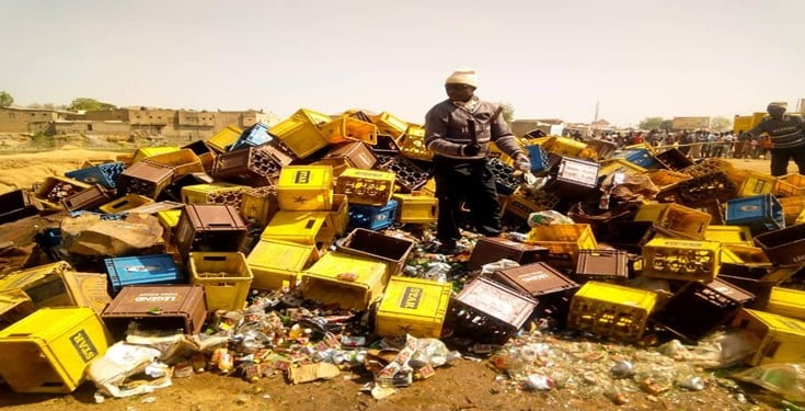 Kano Hisbah destroys 196, 400 bottles of alcohol