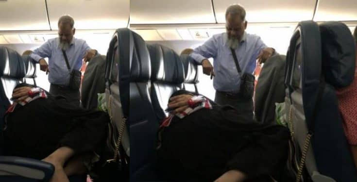 Man stands for 6 hours on flight so his wife can sleep