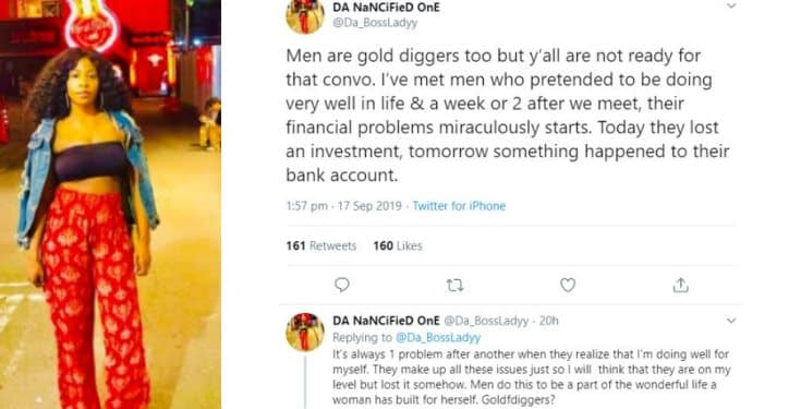 """Men are gold diggers too"" - Lady shares her experience"