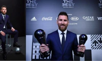 Messi named Best 2019 FIFA Men's Player ahead of Van Dijk and Ronald