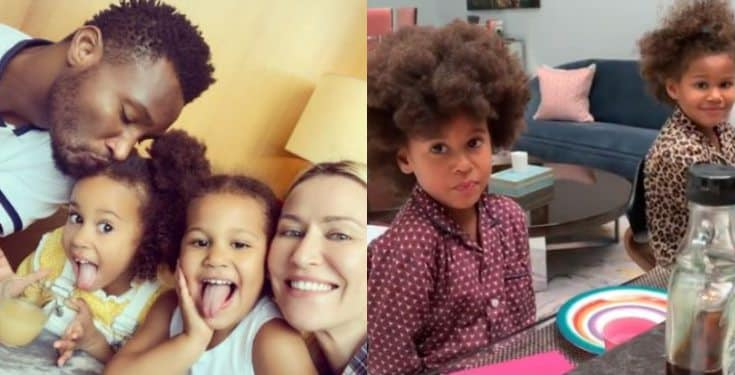 Mikel Obi's girlfriend replies a troll who accused her of telling her kids to ask their dad to marry her
