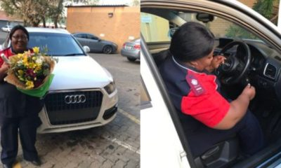 Mum breaks down in tears as her daughter surprised her with a car (video)