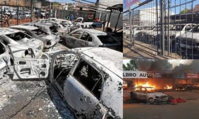 Nigerian car dealership owner laments after his cars were burnt to ashes