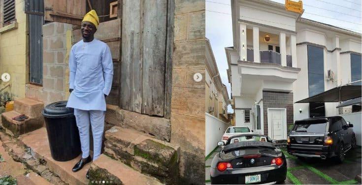 Nigerian comedian, Ogusbaba buys his first house in Lekki