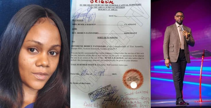 Rape Allegation: Busola Dakolo demands apology and ₦10 million from Pastor Fatoyinbo