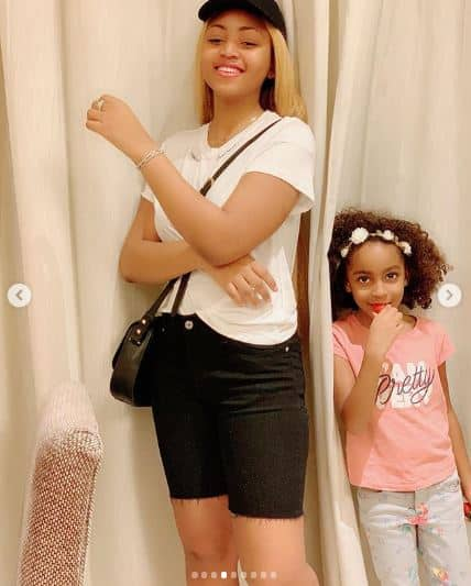 Regina Daniels hangs out with her step kids (photos)
