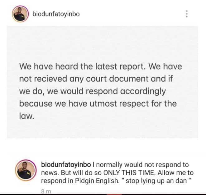 Stop telling lies up and dan - Biodun Fatoyinbo tells Busola DAKOLO