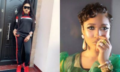 Tonto Dikeh reacts after youths protest against Bobrisky's lifestyle