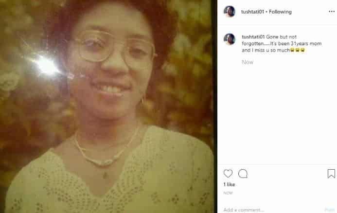Tonto Dikeh's sister pens down tribute to their late mother