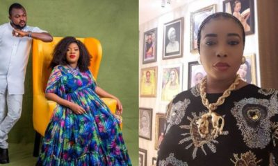 Toyin Abraham's husband reacts to Lizzy Anjorin's defamation