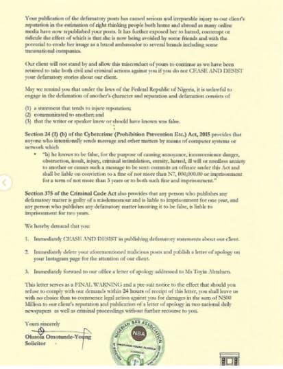 Toyin Abraham serves a defamatory lawsuit notice to Lizzy Anjorin