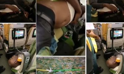 Two Nigerian men die as the drug they swallowed burst during a flight (video)