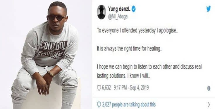 #Xenophobia: MI Abaga apologizes for supporting SA rapper, AKA