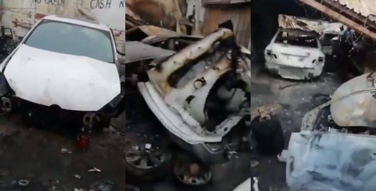 Xenophobia: South Africans set properties owned by Nigerians on fire (video)