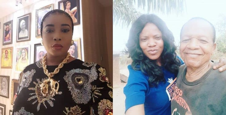 Your father denied you before he died - Lizzy Anjorin continues dragging Toyin Abraham (video)