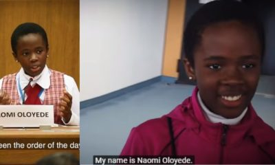 11-year-old Nigerian girl speaks on corruption at UN conference (Video)