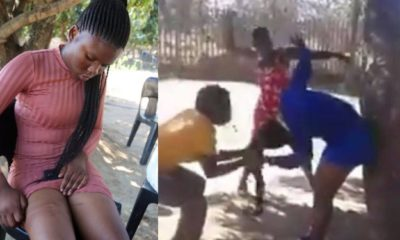3 women beat 20-year-old student for sleeping with a married man (Video)