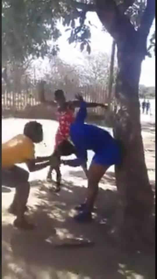 3 women beat 20-year-old student for having sex with a married man (video)