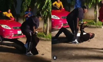 Actor, Odunlade Adekola and Teni fight dirty on movie set (Video)