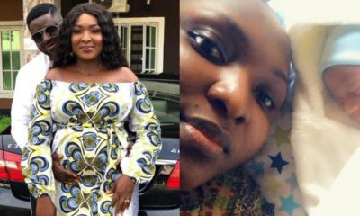 Actress Esther Audu Ojire and husband welcome child after 3 years of marriage
