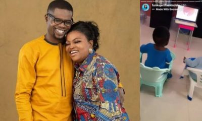 Actress Funke Akindele shows off her twin boys