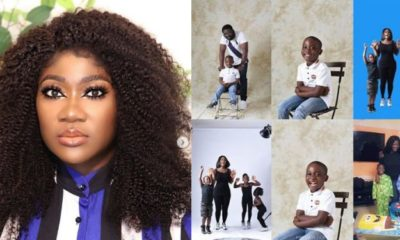 Actress Mercy Johnson celebrates her son, Henry as he turns a year older