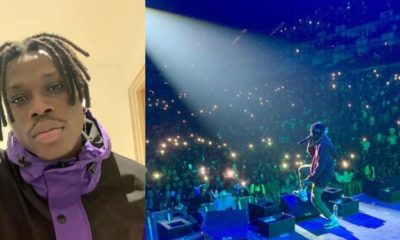 After performing at the O2 Arena in London, Fireboy reveals how he spoke it to existence