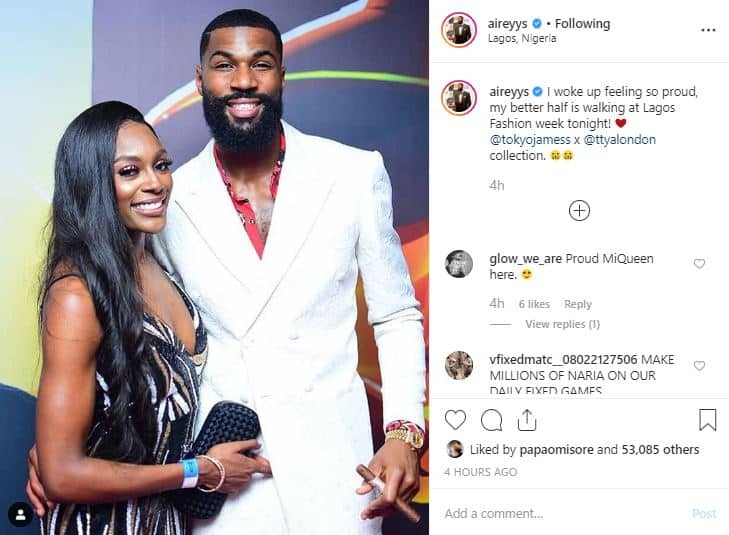 BBNaija star Mike reveals is wife will be walking at Lagos Fashion Week
