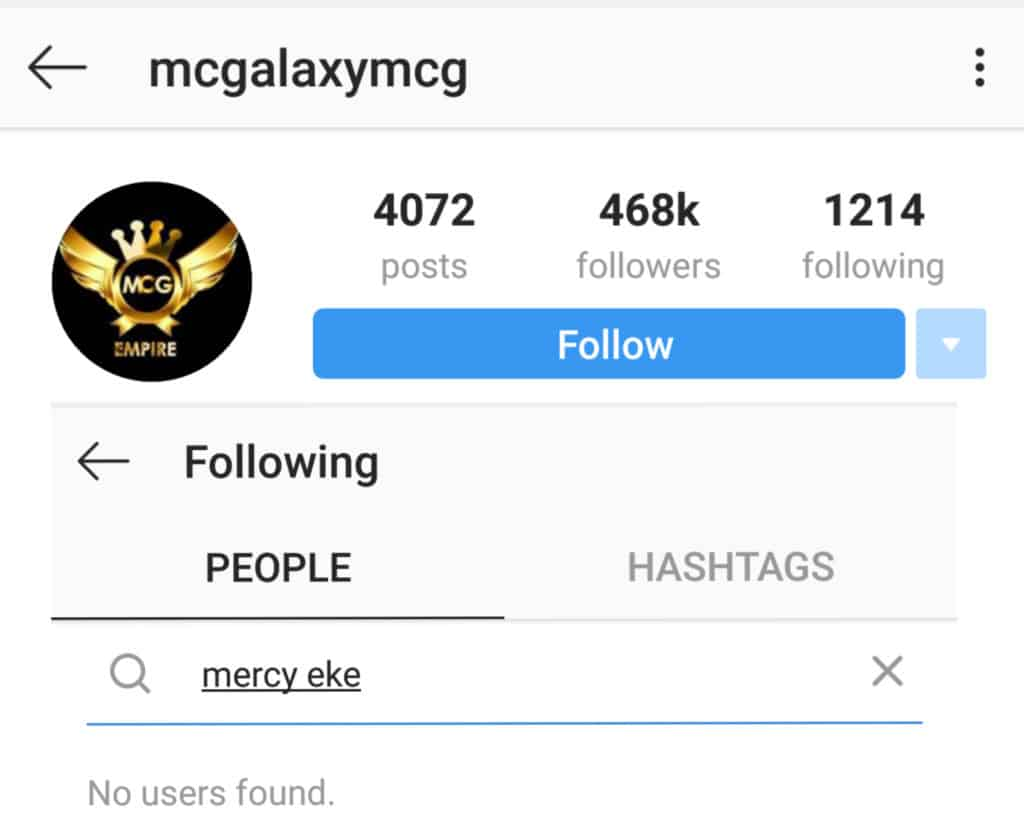 BBNaija Update: Mc Galaxy quickly unfollows Mercy on IG as she gets herself a new management