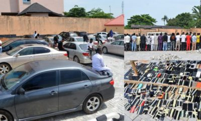 EFCC storms 'Yahoo-boys' party arrests 94 suspected internet fraudsters (Photos)