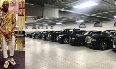 Floyd Mayweather shows off luxury vehicles in his garage