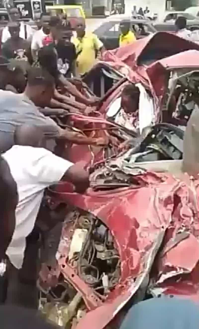 Woman miraculously survives a fatal accident in Benin City