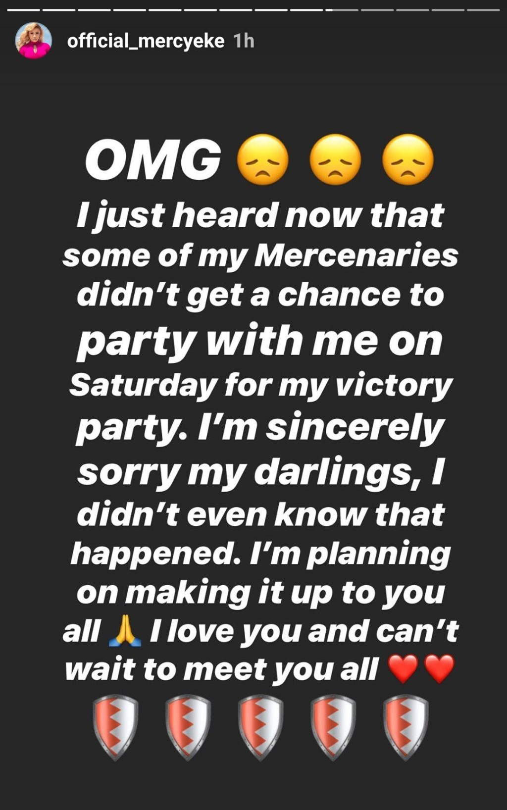 Mercy sends official apology letter to fans who were locked out during her party, Mercy sends official apology letter to fans who were locked out during her party, Latest Nigeria News, Daily Devotionals & Celebrity Gossips - Chidispalace