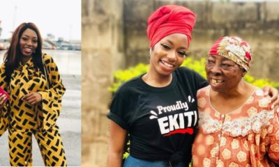 Khafi Kareem reunites with her grandmother in Ekiti State