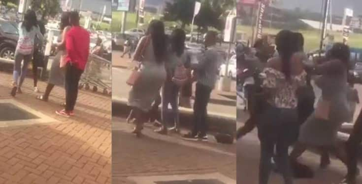 Image result for VIDEO: Main Chick Beats Up Boyfriend's Side Chick In Public