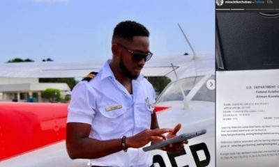 Miracle Igbokwe passes his commercial pilot airplane exams in flying colors