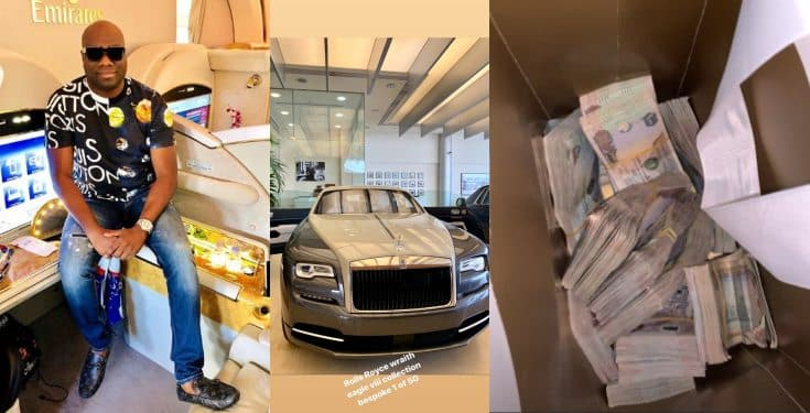 Mompha emerges the first African to own the 2020 Rolls Royce Wraith Eagle VIII (Video)
