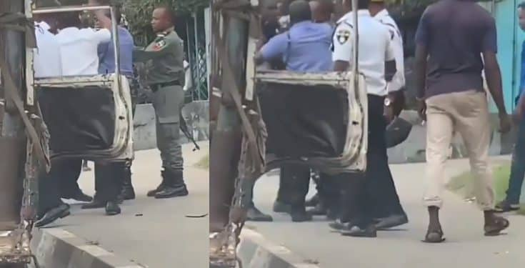 Image result for vehicle Inspection Officers clash with police officers over who should inspect a car