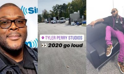 """2020 go loud"" – Davido says as he visits Tyler Perry's studios (video)"
