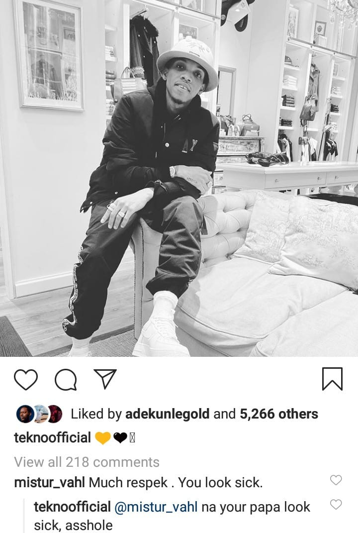 Image result for Fan insists Tekno needs medical attention despite his harsh words