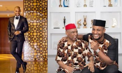 Actor Alex Ekubo shares rare photo himself and his father